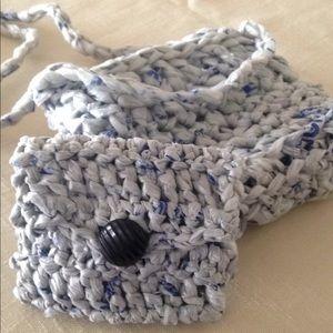 Crocheted Plarn Handmade Mini Bag and Coin Purse